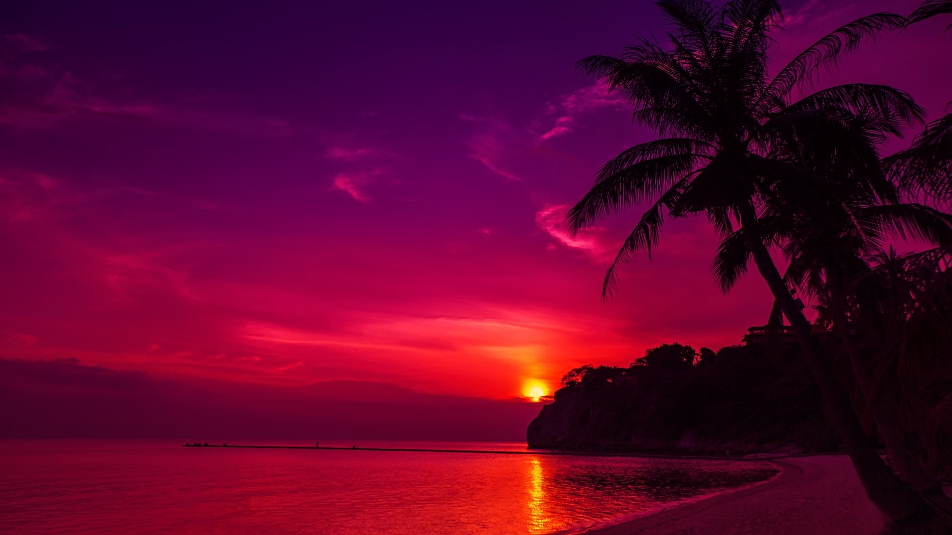 Sunset at a Thai beach
